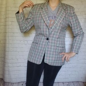 Leslie Fay sz 10  fall plaid sports coat vintage